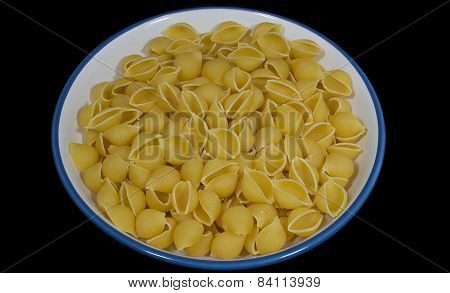 Conchiglie Pasta in a Bowl