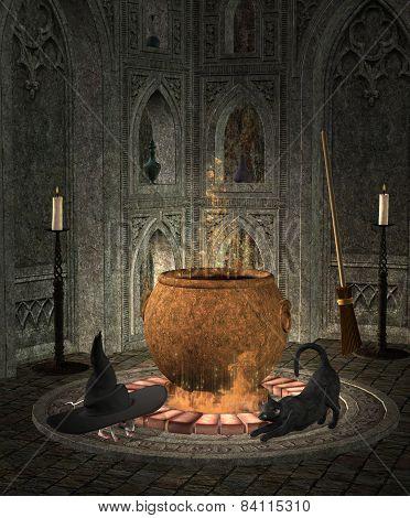 Witch cauldron' s room