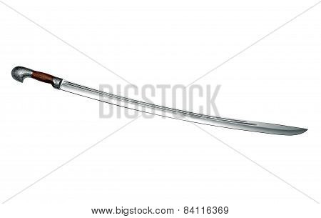 Naked Circassian Cavalry Sword Isolated On White