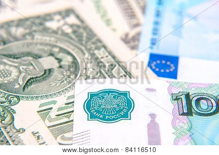 World Money - Dollars, Euros, Russian Roubles