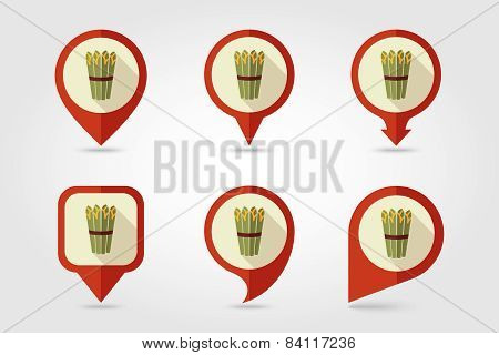 Asparagus Flat Icon With Long Shadow