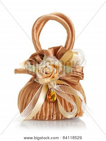 Wedding Favor Shaped Bag With Amber.