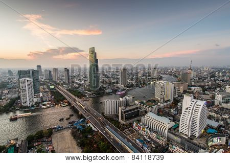Bangkok, February 21 : Bangkok View From Abandon Tower On February 21, 2015. Bangkok Is The Capital