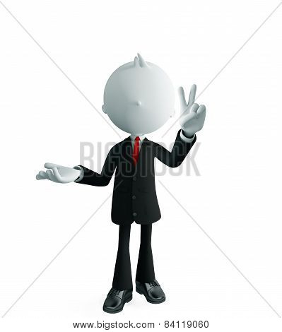Businessman With Win Pose