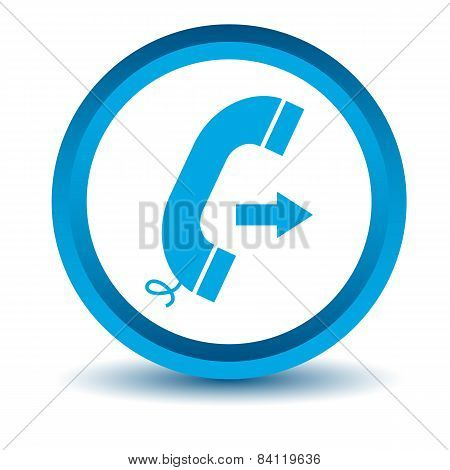 Blue call icon