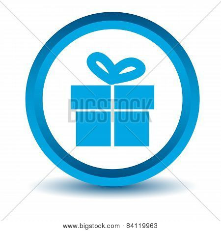 Blue gift icon