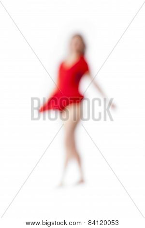 Abstract Out Of Focus Image Of A Woman
