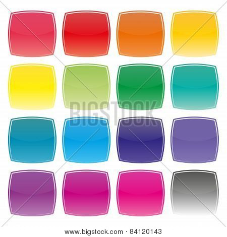Set Of Color Buttons, Vector Illustration.