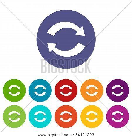 Synchronization flat icon
