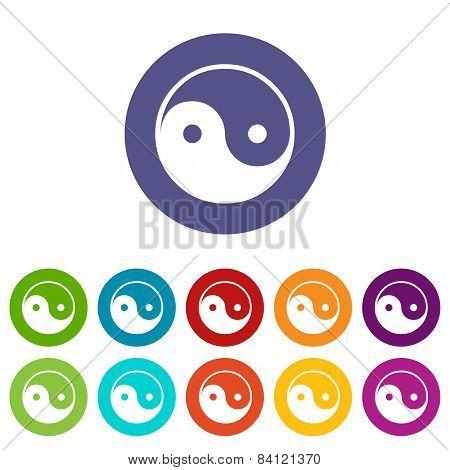Yin Yang flat icon