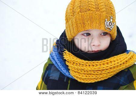 little boy winter