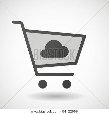 Shopping Cart Icon With A Cloud
