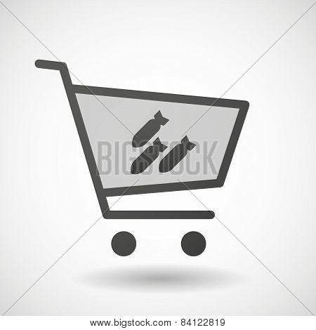 Shopping Cart Icon With  Bombs