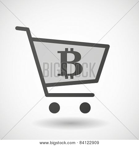 Shopping Cart Icon With A Bitcoin Sign