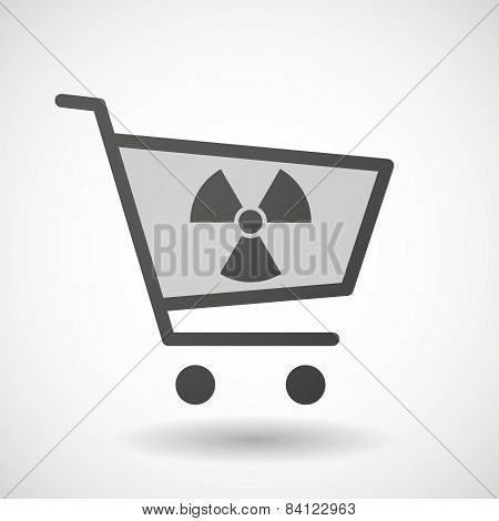 Shopping Cart Icon With A Radio Activity Sign