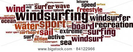 Windsurfing Word Cloud