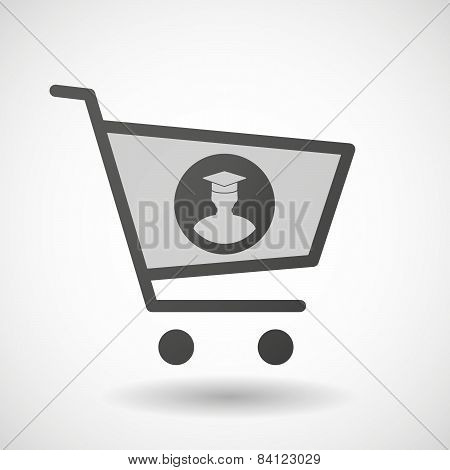 Shopping Cart Icon With A Student Avatar