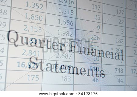 Quarter Financial Statement