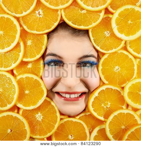Woman And Oranges