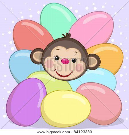Monkey With Eggs