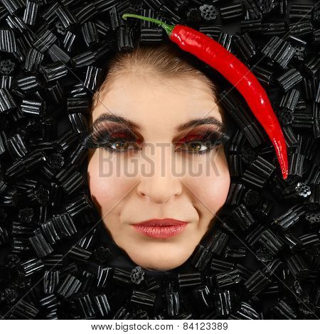 Woman And Licorice