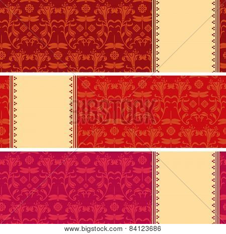 Colorful Japanese pattern horizontal banners