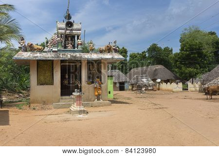 Village Shrine For Goddess Mariamman, Parvati.