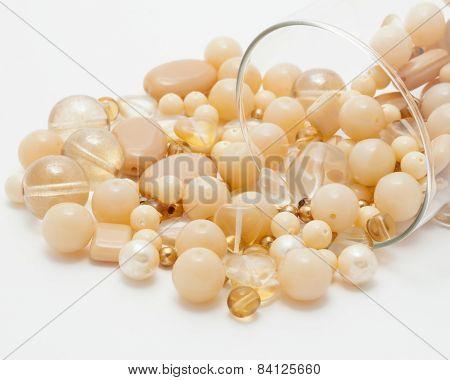 Yellow beads macro