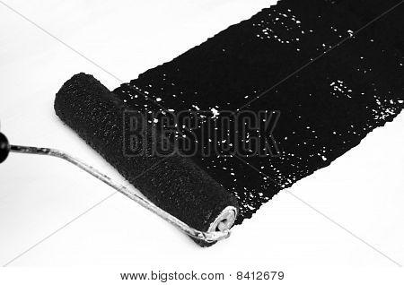 Black Paint Roller