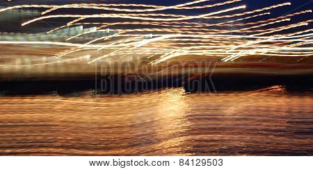 Abstract Light Trails Photo. Light Trails, Long Exposure Photo.
