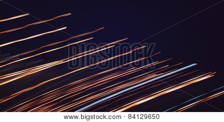 Light Trails, Photo In Motion - Retro Filter.