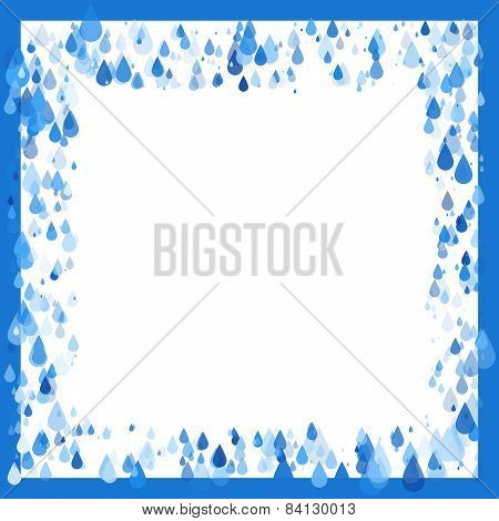 Raindrops Natural Background Frame