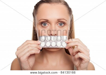 Woman With Medicines.