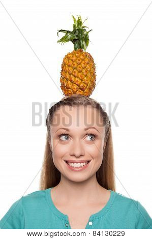 Pineapple On Her Head.