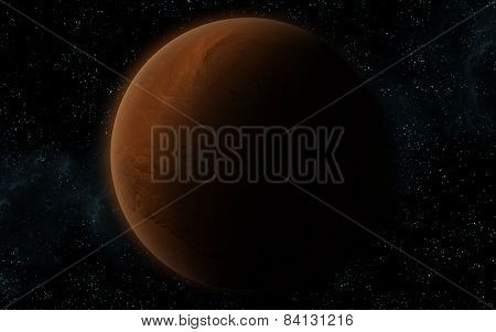 3D Mars Like Planet
