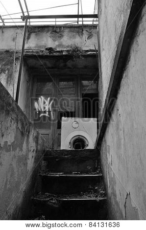 Basement Stairs Abandoned House
