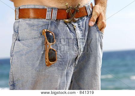 Nahaufnahme von Blue jeans