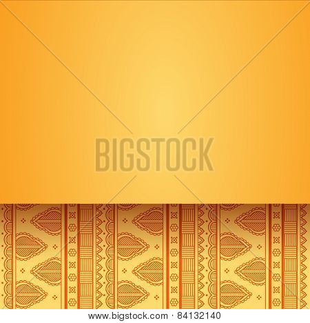 Yellow Indian henna background design