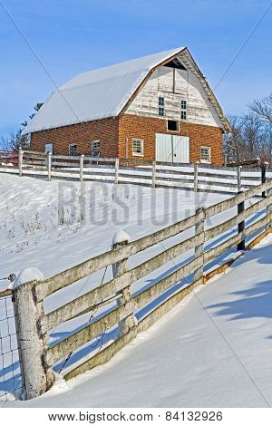 Snow Brick Barn