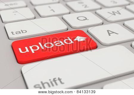 Keyboard - Upload - Red