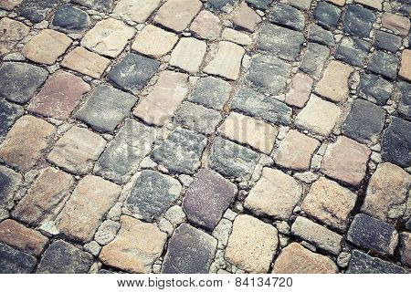 Old Stone Road Pavement, Background Texture