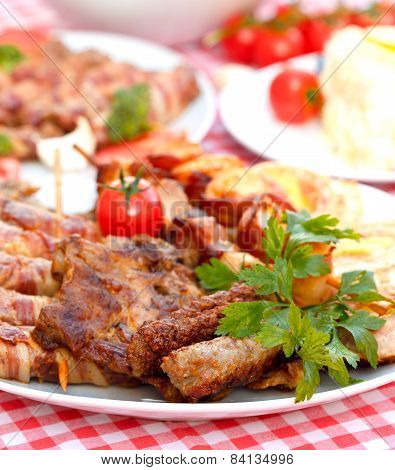 Tasty meal - grilled meat