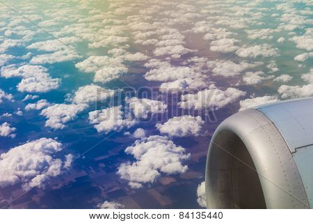 Beautiful cloud sky view