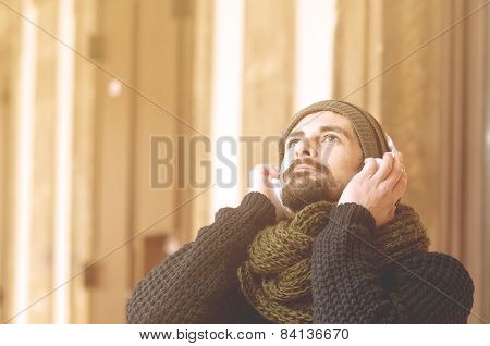 Young Generation Listening Music Instagram Style Toned