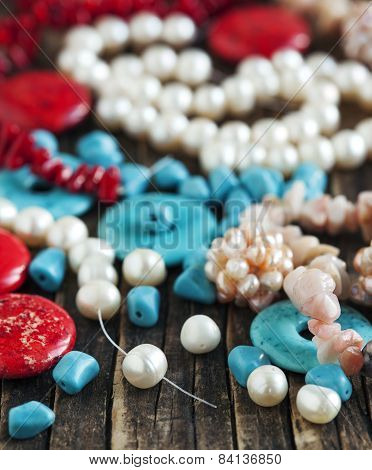 Different Colorful Beads
