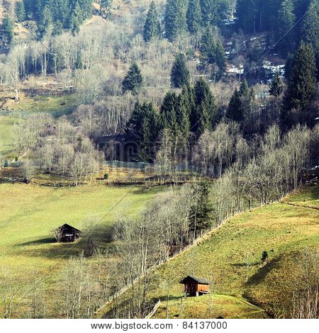 Early Spring In The Austrian Alps.