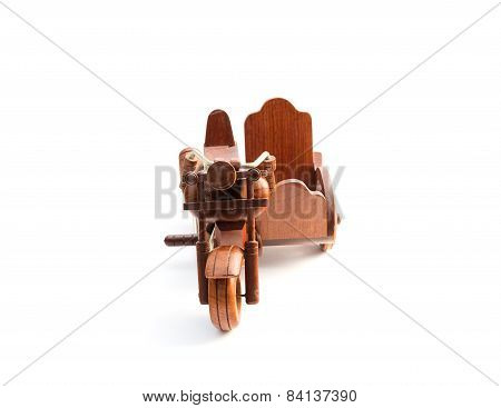 Wooden Motor Tricycle