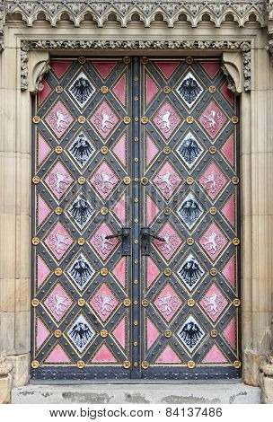 Entrance door of St. Peter and Paul Church