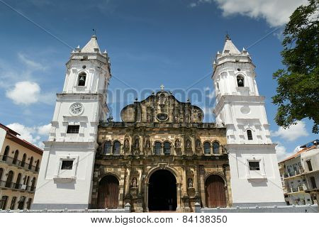 Panama City Central America Cathedral In Plaza Mayor Casco Antiguo