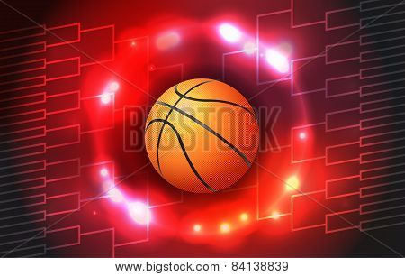 Basketball Tournament Bracket Illustration
